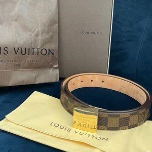 Louis Vuitton Belt Ceintire Carre Damien Goldtone